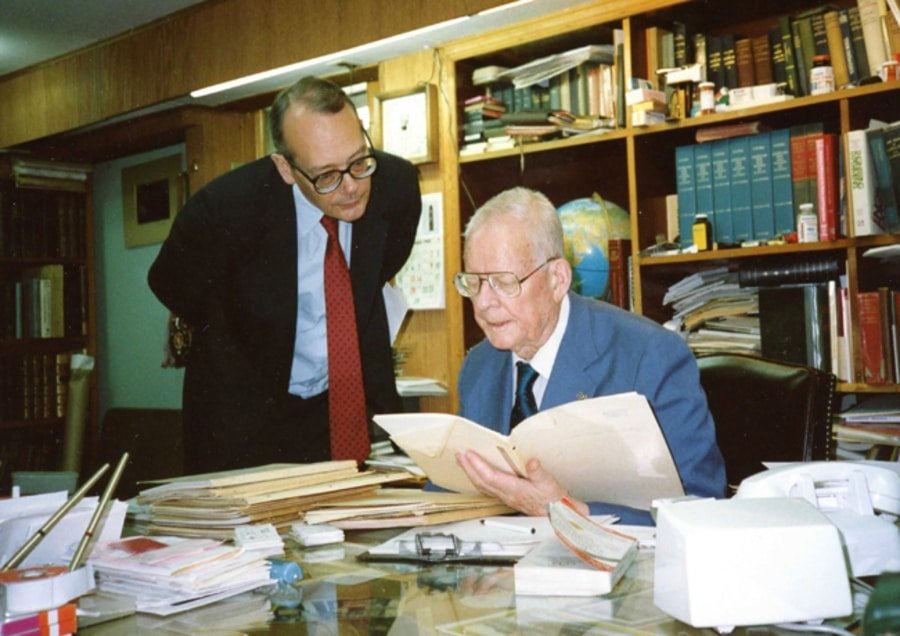 W. Edwards Deming working in his home office