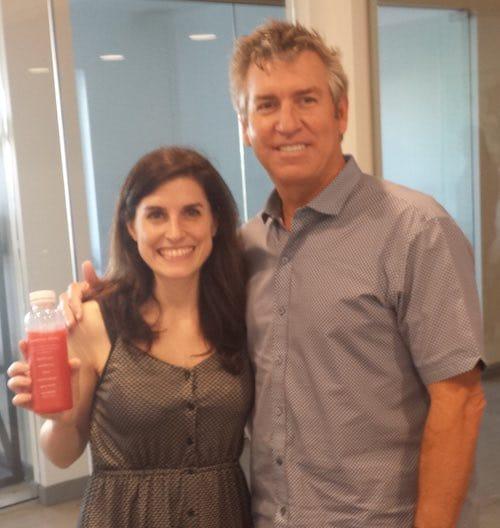 Luciana Paulise with Steve Schulze, CEO Nekter Juice bar