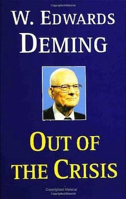 image of the book cover for Out of the Crisis