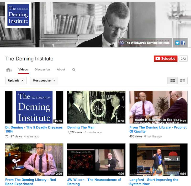 Image of Deming Institute YouTube channel